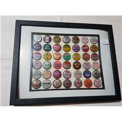 Framed Bottle Caps