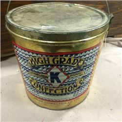 """Kelly Confectionary Tin-10"""" High-10"""" Top"""