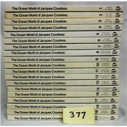 19 Volume 1975 Jacque Coustea Ocean World H/C Book Set