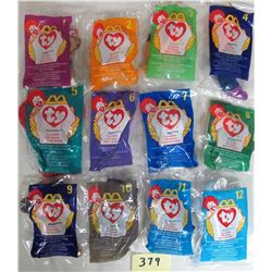 Set of 12 1998 New Mcdonalds Teenie Beanie Babies