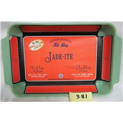 Jadite Fire King Anchor Hocking 9x13 Rectangular Casserole/Cake Pan