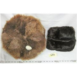 Beaver Fur Pillow + Muskrat Fur Ladies Muff