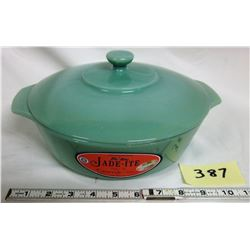 Jadite Anchor Hocking Fire King 2000 Oval Casserole/Lid