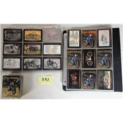 Set 100 each Harley Davidson Collector Cards