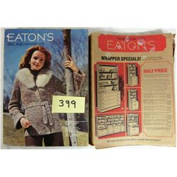 1975 Eatons Fall+Winter Catalogue/Original Slip Cover