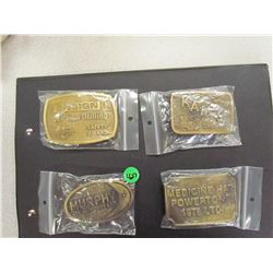 Lot of 4 Oil Related Belt Buckles