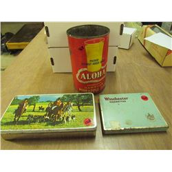 Aloha Pineapple Tin,Cigar Tin box + Winchester Ciggertte tin