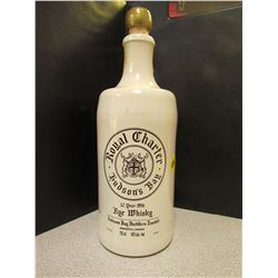 Hudson Bay Ceramic Whiskey Bottle