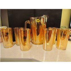 Hex Optic  Depression Glass Pattern 1950  Water Set