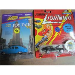 1-Johnny Lightning with coin 2-Johnny Lightning Toy Fair
