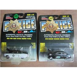 2 Police USA 1949 Merc/1954 Ford Toy Cars