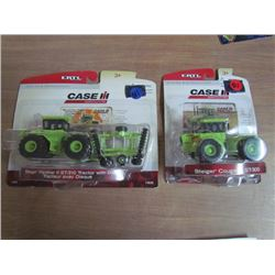2 IH Case Die Cast Toys with Collector Cards