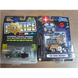 2 Police Cruisers Toy Cars