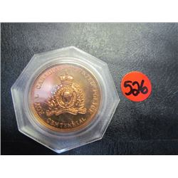 Royal Canadian Mounted Police Cent. Coin