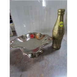 Royal Winton Dish and Brass Coca Cola Bottle