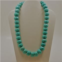 "Howlite Necklace ""17.3X13.5"" Approx"