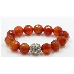 Carnelian With Crystals Bracelet