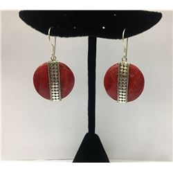 CORAL Earring Sterling Silver