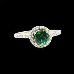 1.02CT NATURAL TSAVORITE 14K Y/G RING