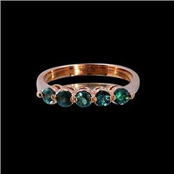 0.63CT NATURAL ALEXANDRITE 14K ROSE GOLD RING