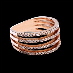 0.47CT NATURAL DIAMOND 14K ROSE GOLD RING