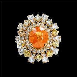 5.33CT NATURAL SPESSARTITE 14K Y/G RING