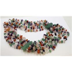Natural Gems Stones Multi Stones Necklace
