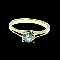 0.48CT NATURAL DIAMOND 14K YELLOW GOLD RING