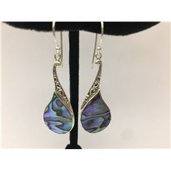 Abalone coral .925 Sterling Silver Earring