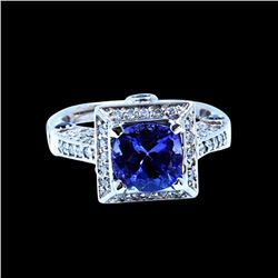 2.31CT NATURAL TANZANITE 14K W/G RING