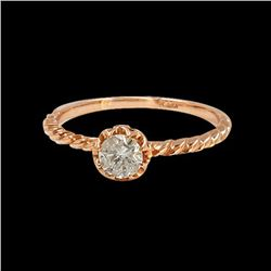 0.38CT NATURAL DIAMOND 14K ROSE GOLD RING