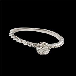 0.18CT NATURAL DIAMOND 14K WHITE GOLD RING