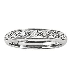 14kt gold 3.72 gram Wedding Bands/Pave
