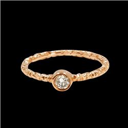 0.17CT NATURAL DIAMOND 14K ROSE GOLD RING