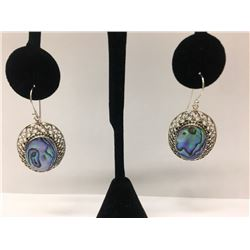 Abalone Sterling Silver Earring