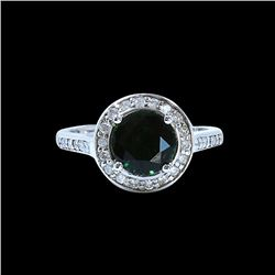 1.74CT NATURAL TSAVORITE 14K WHITE GOLD RING
