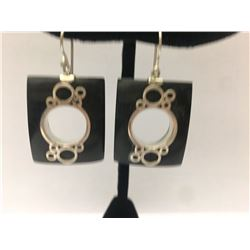 Sterling Silver W/ Wood Earring