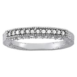 14kt gold 3.02 gram Wedding Bands/Pave