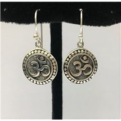 OM Sterling Silver Earring