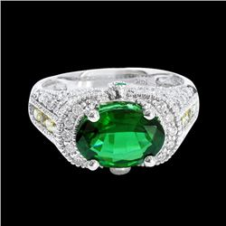 2.39CT NATURAL TOURMALINE 14K WHITE GOLD RING