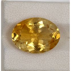 7.93ct Natural citrine oval cut
