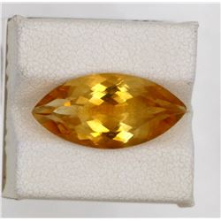 7.38ct Natural citrine marquise cut