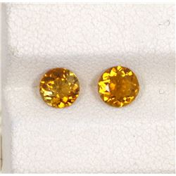1.07ct Yellow Tourmaline Match Pair Round Cut