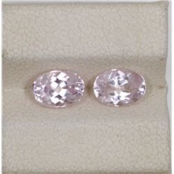 2.13ct Morganite oval match pair cut