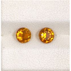 1.03ct Yellow Tourmaline Round Cut