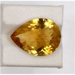 11.54ct Natural citrine pear cut