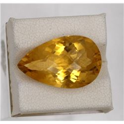 13.94ct Natural citrine pear cut