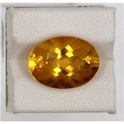 8.07ct Natural citrine oval cut