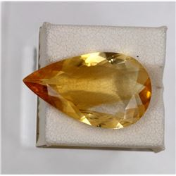 11.75ct Natural citrine pear cut