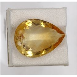 16.08ct Natural citrine pear Cut